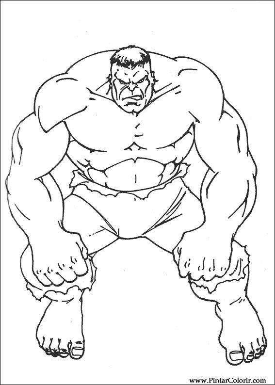 Disegni A Dipingere E Hulk Coloring Stampare Realizzazione 020