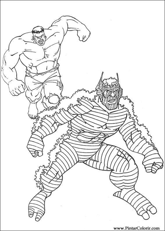 çizimler Boya Ve Hulk Boyama Için Baskı Tasarım 023