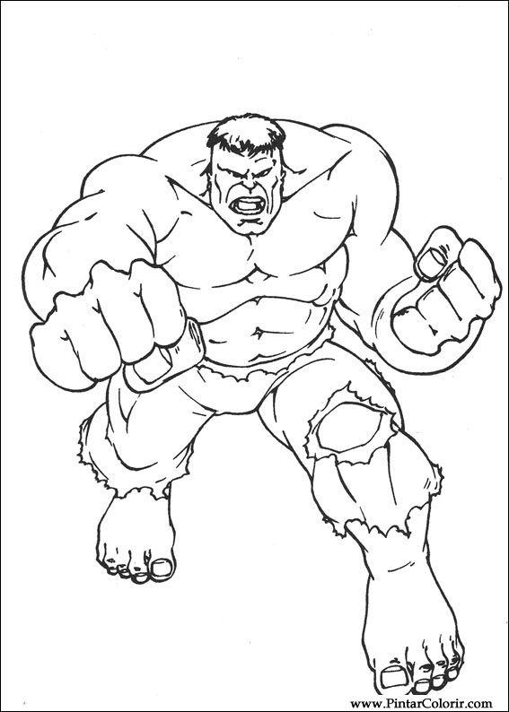 çizimler Boya Ve Hulk Boyama Için Baskı Tasarım 025