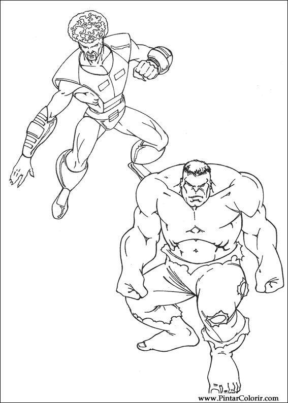 Dibujos Para Pintar Y Colorear Hulk Diseño De Impresión 026