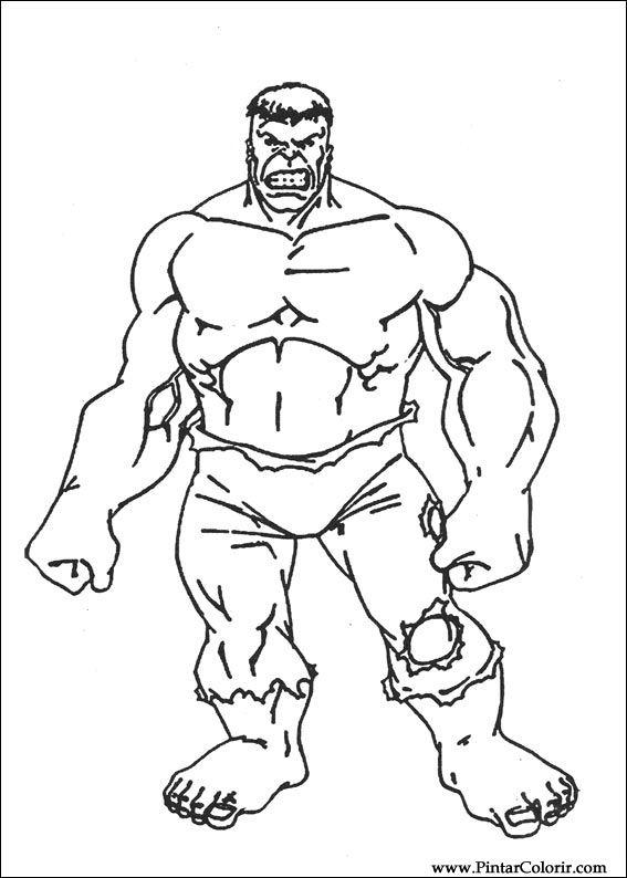 Kleurplaten Hulk.Tekeningen Om Te Schilderen En Hulk Coloring Print Design 035