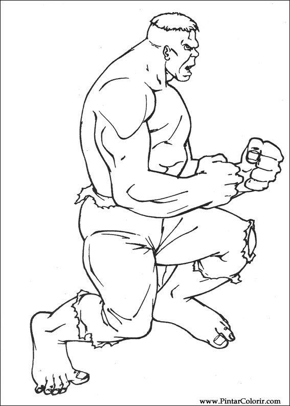 Kleurplaten Hulk.Tekeningen Om Te Schilderen En Hulk Coloring Print Design 036