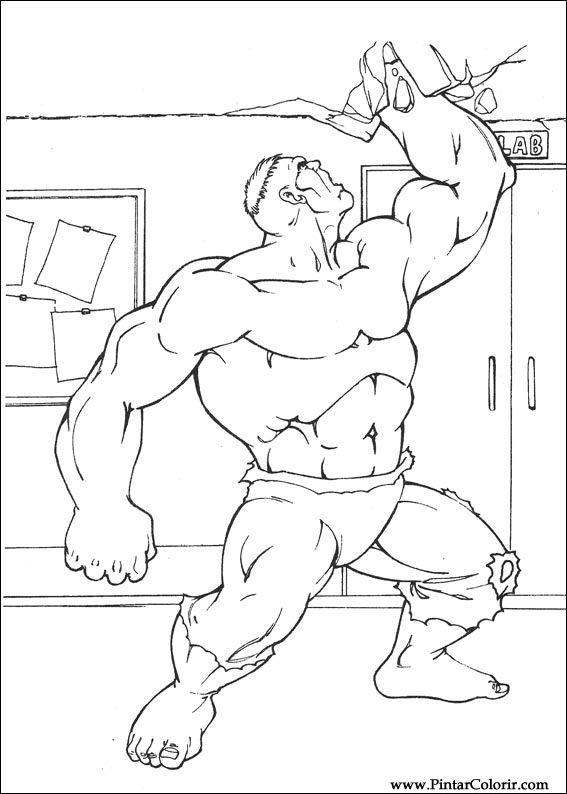 desenhos para pintar e colorir hulk imprimir desenho 037