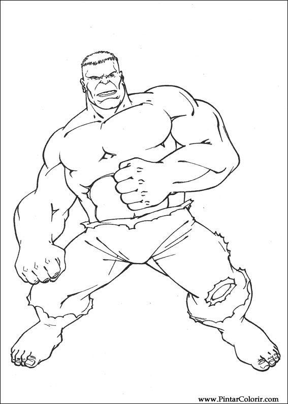 Dessins à Peindre Et Hulk Coloriage Imprimer Conception 039
