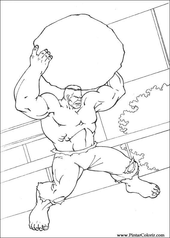 desenhos para pintar e colorir hulk imprimir desenho 042