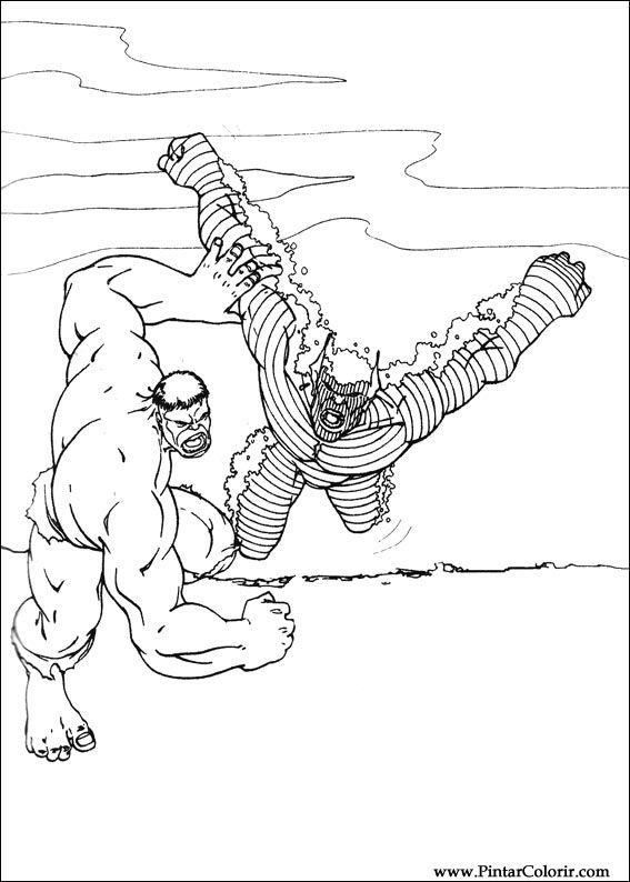 Drawings To Paint And Hulk Coloring Print Design 052