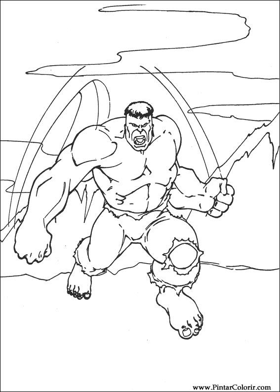 Dibujos Para Pintar Y Colorear Hulk Diseño De Impresión 055