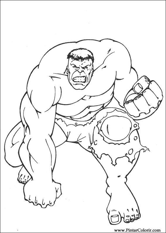 Desenhos Para Pintar E Colorir Hulk Imprimir Desenho 057