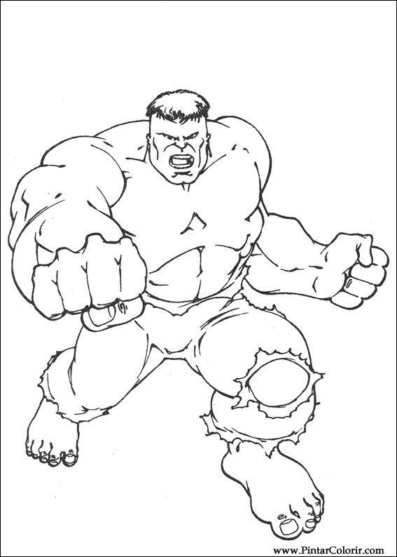 Kleurplaten De Hulk.Tekeningen Om Te Schilderen En Hulk Coloring Print Design 059