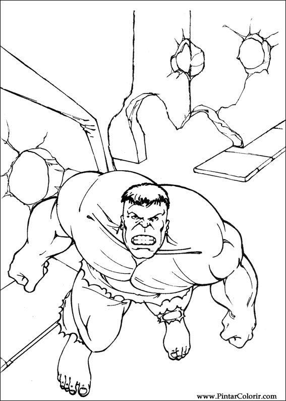 Desenhos Para Pintar E Colorir Hulk Imprimir Desenho 069