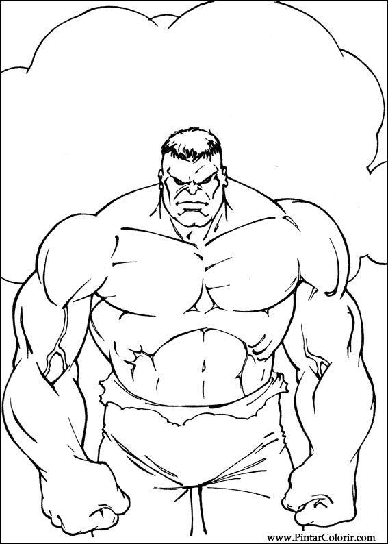 Kleurplaten Hulk.Tekeningen Om Te Schilderen En Hulk Coloring Print Design 071