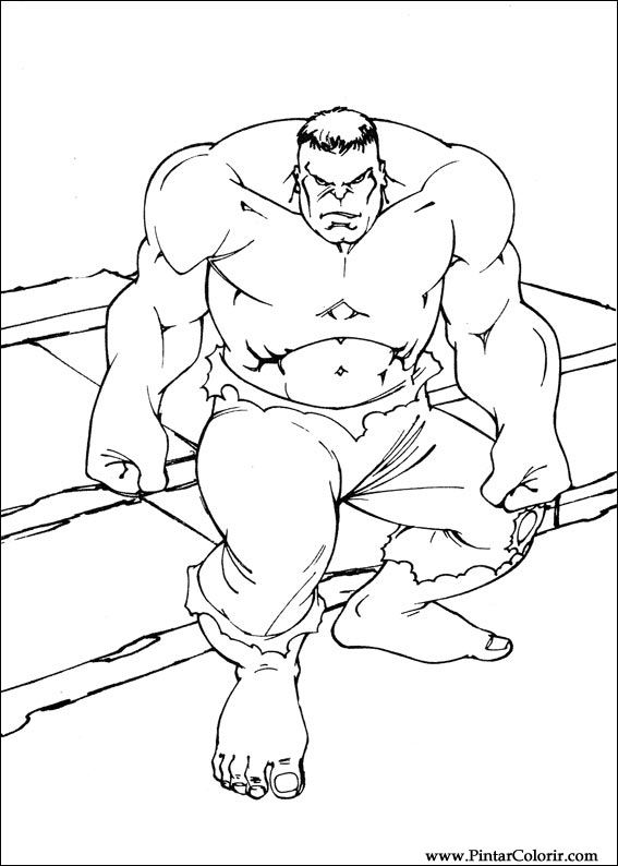 Disegni A Dipingere E Hulk Coloring Stampare Realizzazione 072