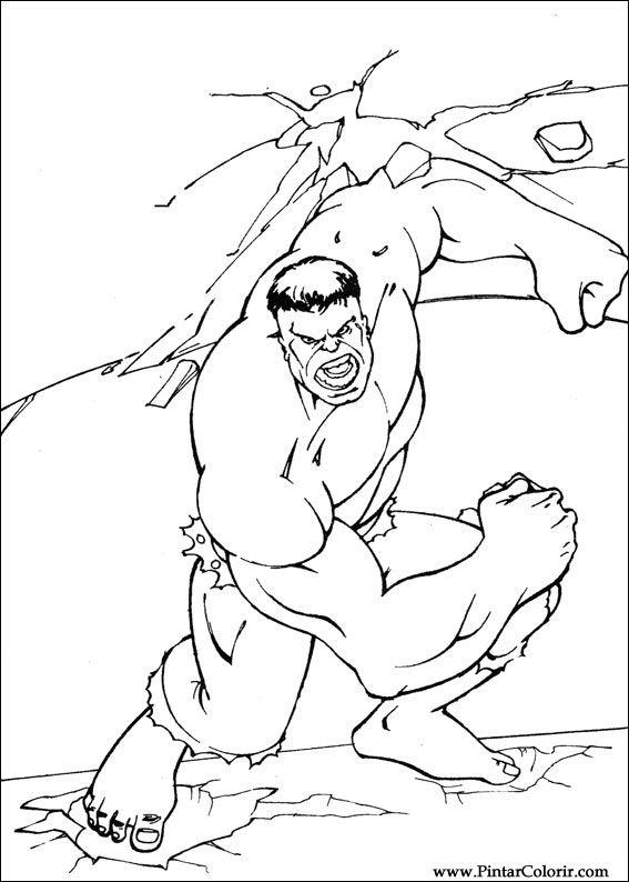 Kleurplaten De Hulk.Tekeningen Om Te Schilderen En Hulk Coloring Print Design 076