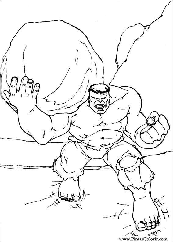 desenhos para pintar e colorir hulk imprimir desenho 081