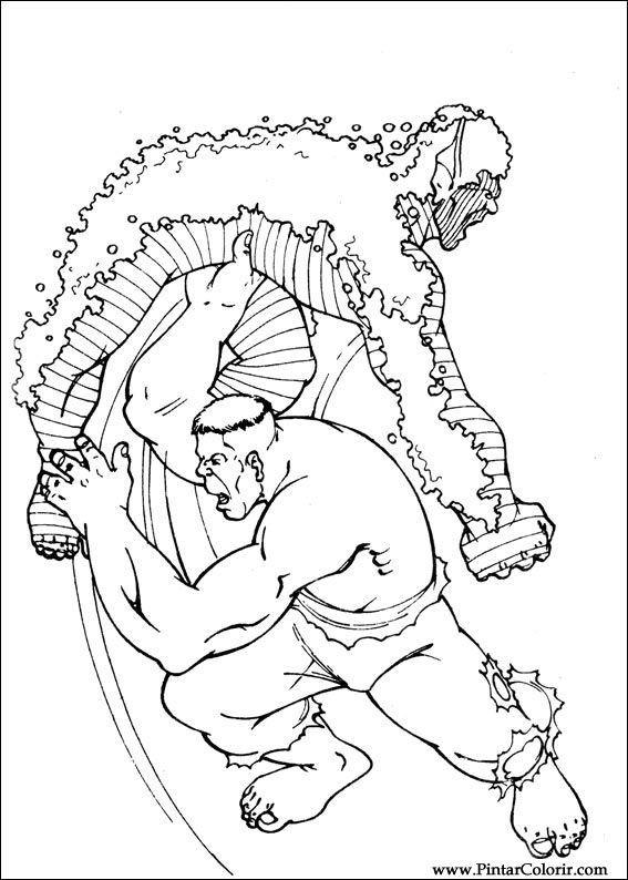 desenhos para pintar e colorir hulk imprimir desenho 086