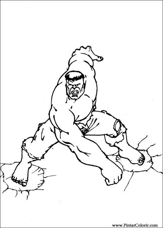 Dibujos Para Pintar Y Colorear Hulk Diseño De Impresión 092