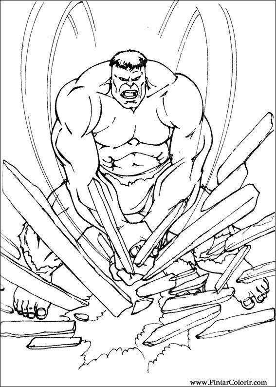 çizimler Boya Ve Hulk Boyama Için Baskı Tasarım 093