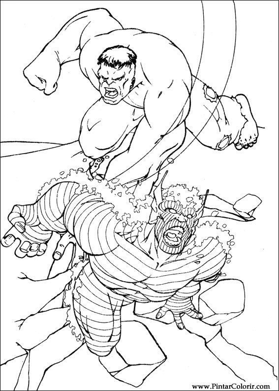 Desenhos Para Pintar E Colorir Hulk Imprimir Desenho 102