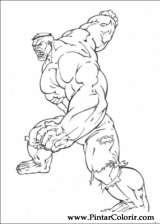 Pintar e Colorir Hulk - Desenho 001