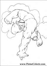 Pintar e Colorir Hulk - Desenho 002