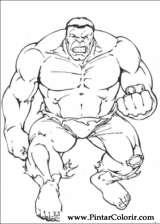 Pintar e Colorir Hulk - Desenho 004