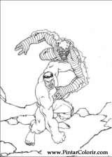 Pintar e Colorir Hulk - Desenho 005