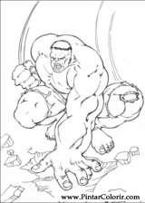 Pintar e Colorir Hulk - Desenho 007