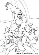 Pintar e Colorir Hulk - Desenho 098