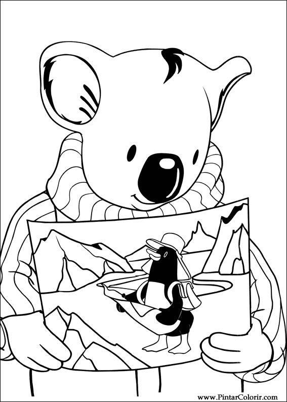 Dibujos Para Pintar Y Color Koala Brothers Diseño De