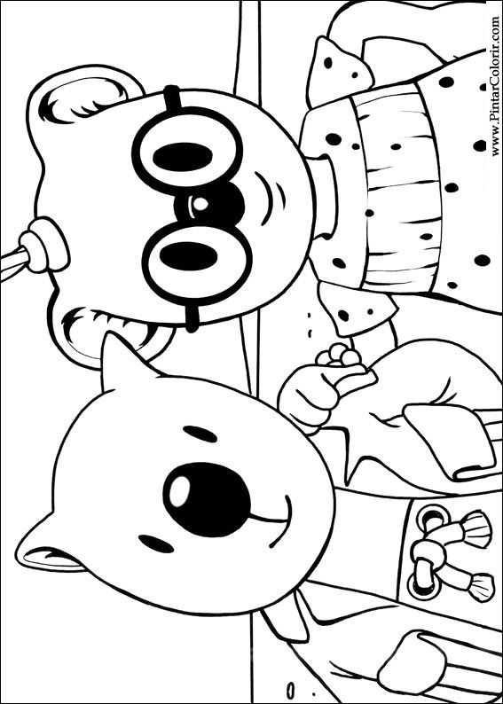 Pintar e Colorir Irmaos Koala - Desenho 008