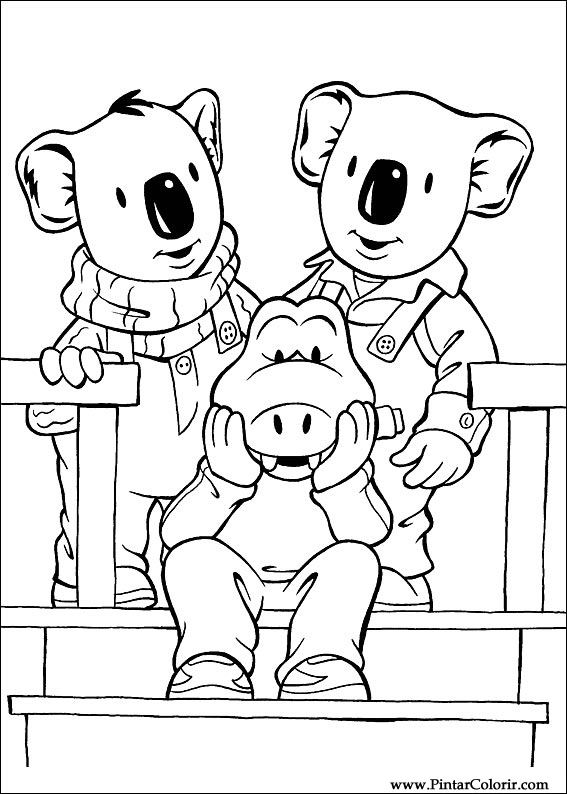 Dibujos para pintar y Color Koala Brothers - Diseño de impresión 028