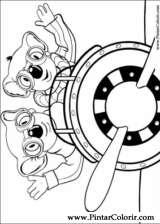 Pintar e Colorir Irmaos Koala - Desenho 007