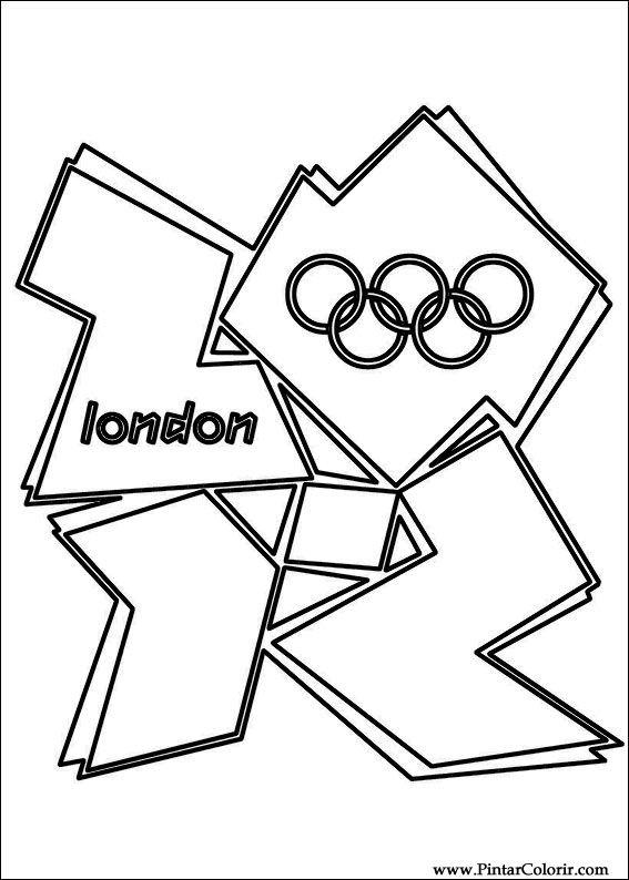 Desenhos Para Pintar E Colorir Jogos Olimpicos Imprimir Desenho 014