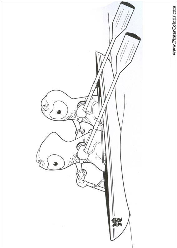 Desenhos Para Pintar E Colorir Jogos Olimpicos Imprimir Desenho 016