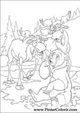 Pintar e Colorir Kenai E Koda 2 - Desenho 007