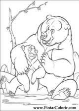 Pintar e Colorir Kenai E Koda - Desenho 013