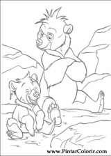 Pintar e Colorir Kenai E Koda - Desenho 026