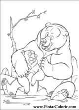 Pintar e Colorir Kenai E Koda - Desenho 035