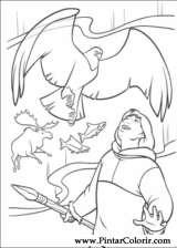 Pintar e Colorir Kenai E Koda - Desenho 068