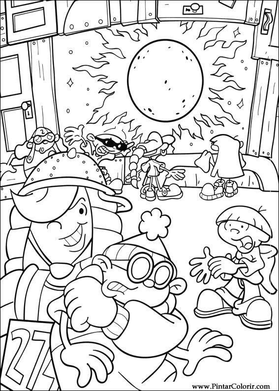 Drawings To Paint Colour Kids Next Door Print Design 009