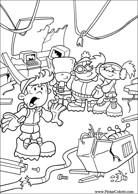 Pintar e Colorir Kids Next Door - Desenho 014