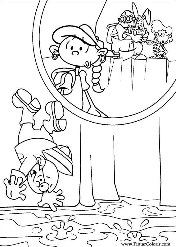 Drawings To Paint Colour Kids Next Door Print Design 060 - Colour-in-pictures-for-kids