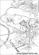 Pintar e Colorir King Kong - Desenho 009