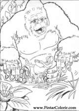 Pintar e Colorir King Kong - Desenho 011