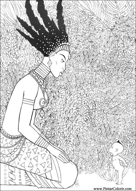 desenhos para pintar e colorir kirikou imprimir desenho 026