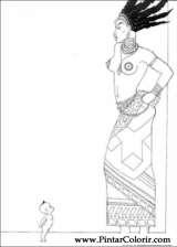 Pintar e Colorir Kirikou - Desenho 007