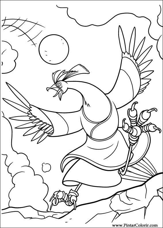 Desenhos Para Pintar E Colorir Kung Fu Panda 2 Imprimir Desenho 004