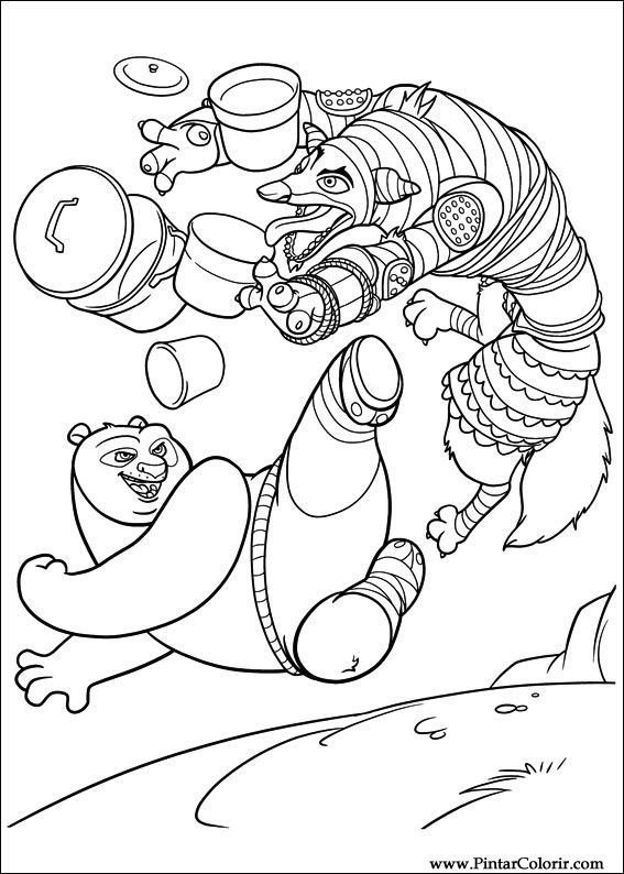 Pintar e Colorir Kung Fu Panda 2 - Desenho 005