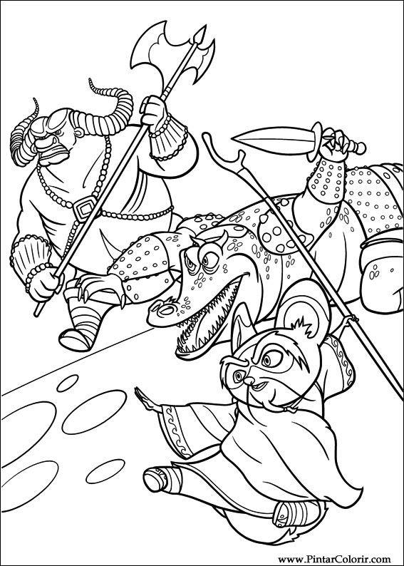 çizimler Boya Ve Renk Kung Fu Panda 2 Için Baskı Tasarım 006