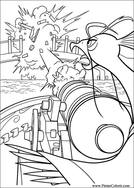 Pintar e Colorir Kung Fu Panda 2 - Desenho 008